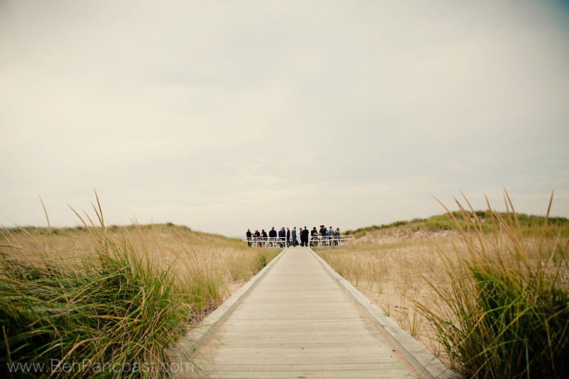 Jean Klock Park Beach wedding ceremony