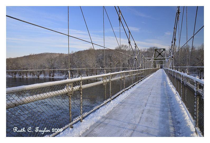 Snowy Walking Bridge to NJ