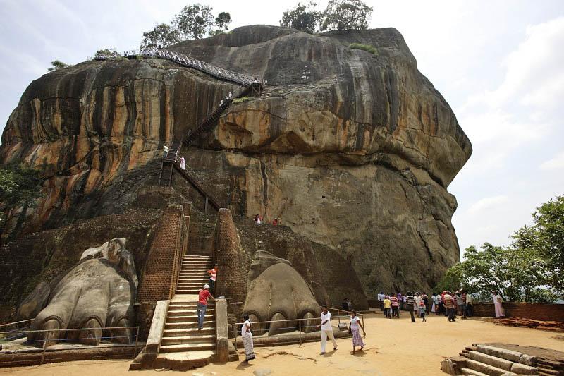 Sigiriya, the steps to the fourth terrace