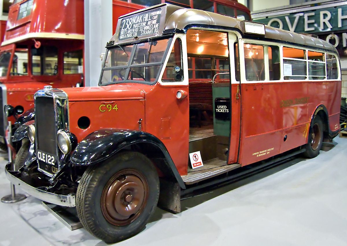 Old bus in museum