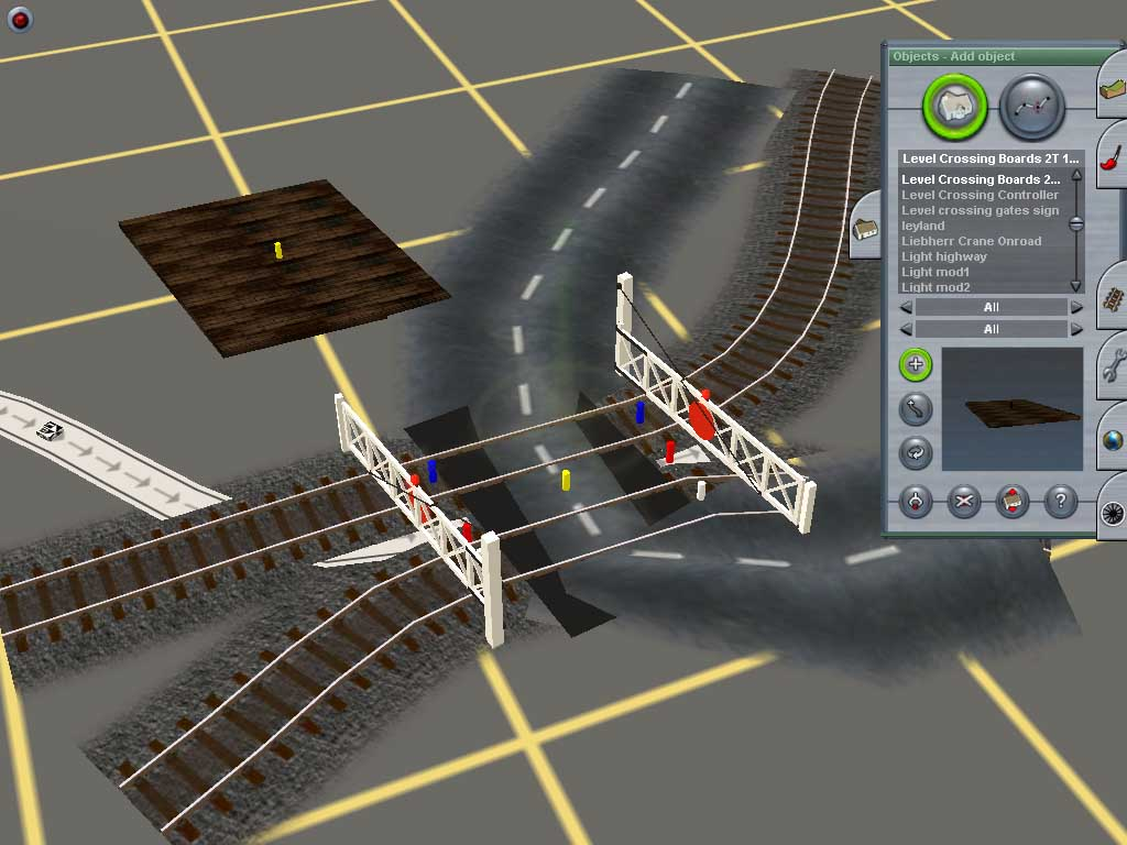 Add level crossing boards