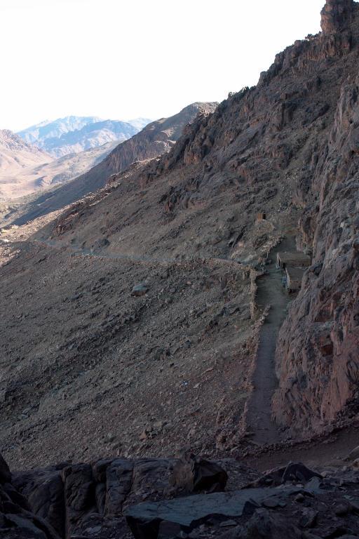 Mt Sinai ascent, the long route