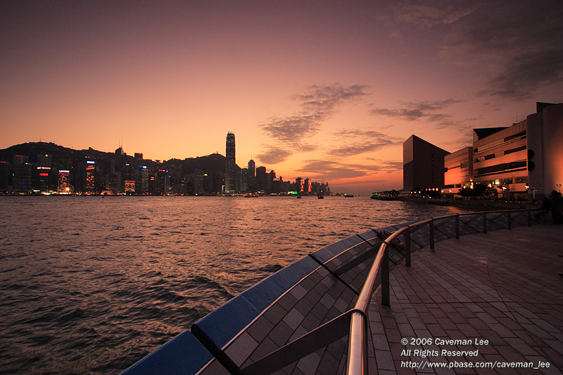 An evening in Victoria Harbour