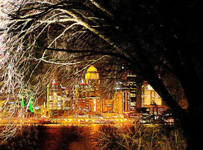 Louisville Ohio River Cityscape.