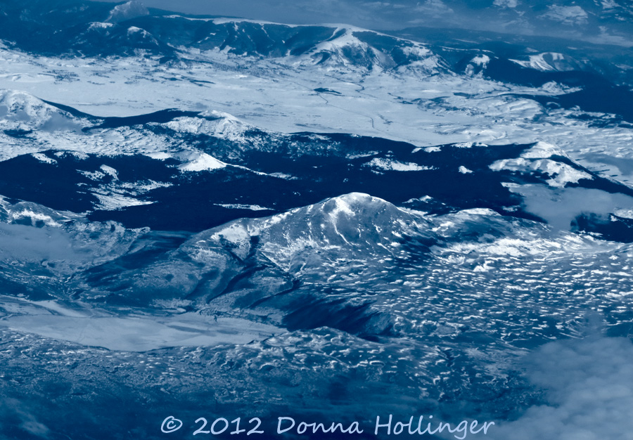 Flying over the Mountains in Balkans