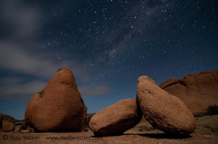 Stars, rocks & clouds