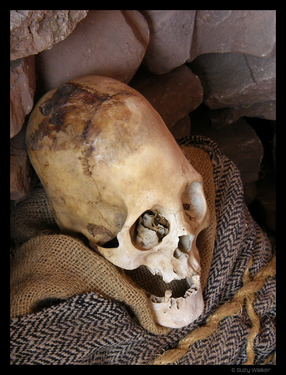 Traditional burial of elongated headed, Cusco