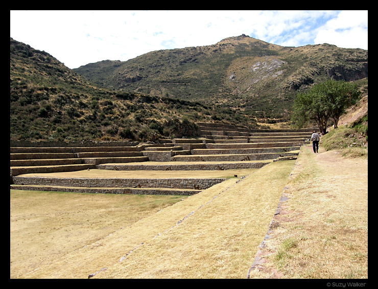 Tipon, outside Cusco, view from half way up