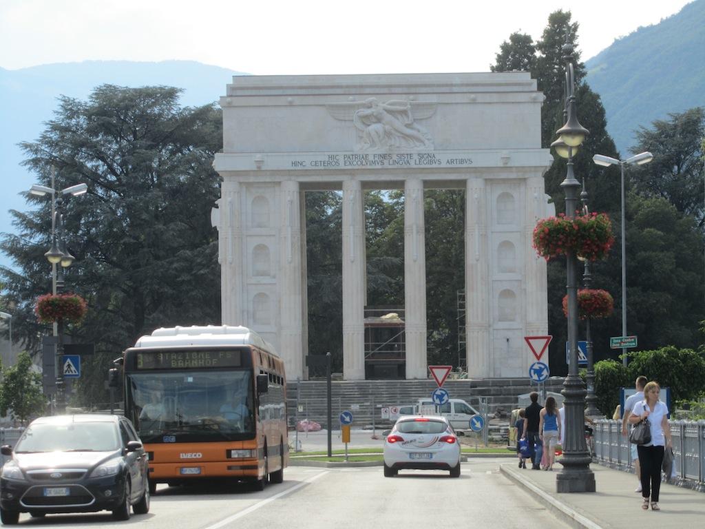 at the Talverna bridge, a controversial monument