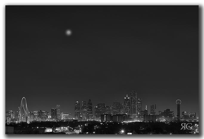 Dallas Skyline in Black and White