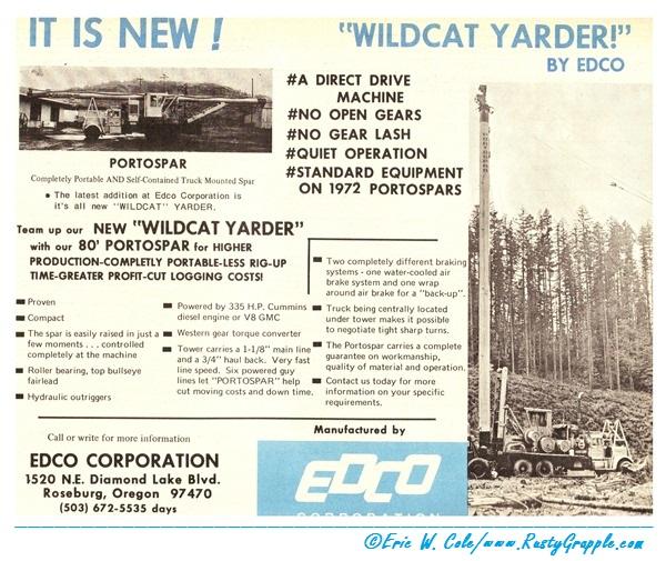 Edco Wildcat  1972 Advertisement