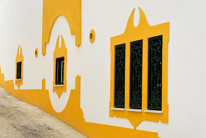 The yellow windows
