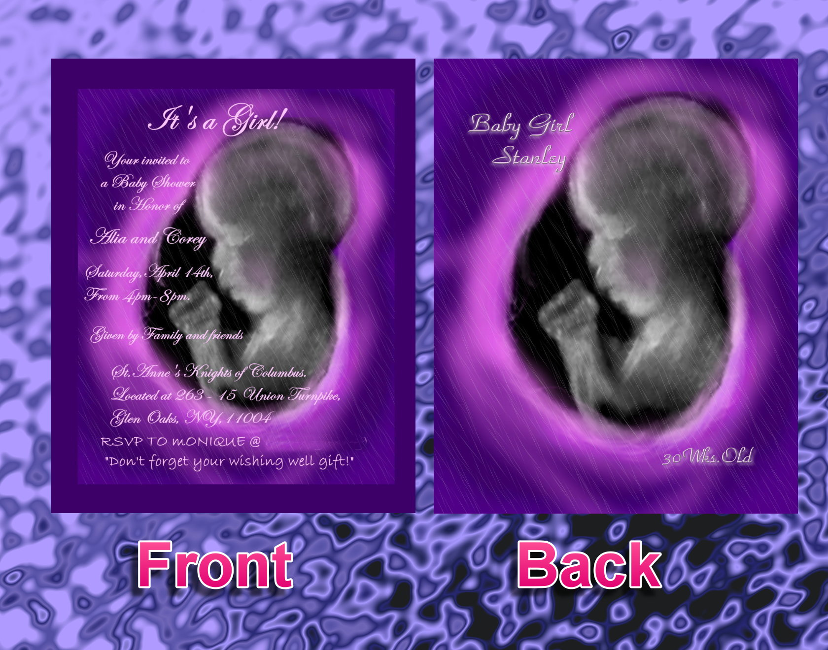 Alias Baby S Shower Invitations Photo Sonoart Keepsake Ultrasound