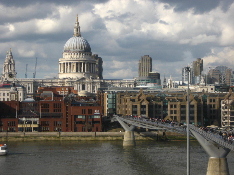 View of St Pauls Cathedral across the Thames