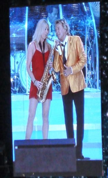 Rod and sax player
