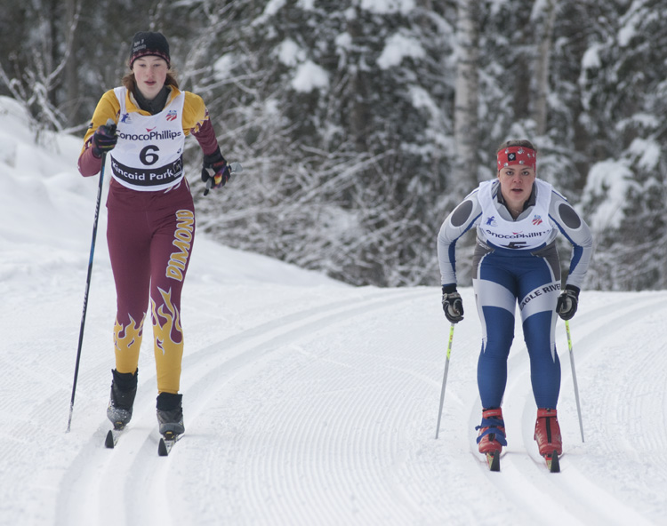 Lindsey Klueber of Dimond and Hayley Patin, Eagle River