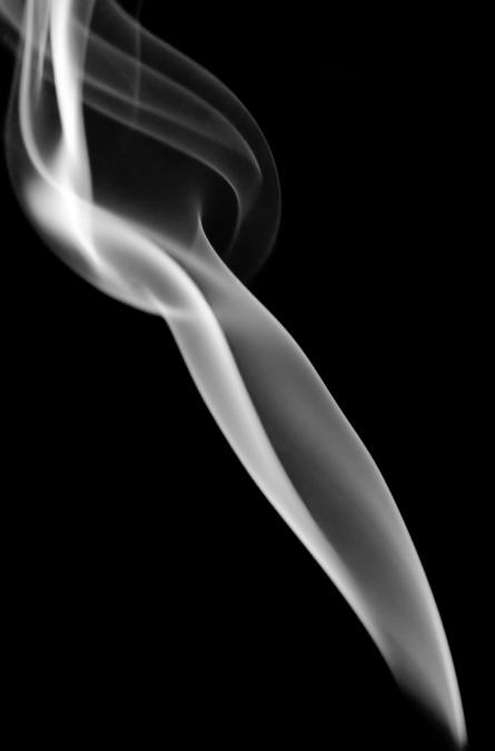 Incense Smoke B&W