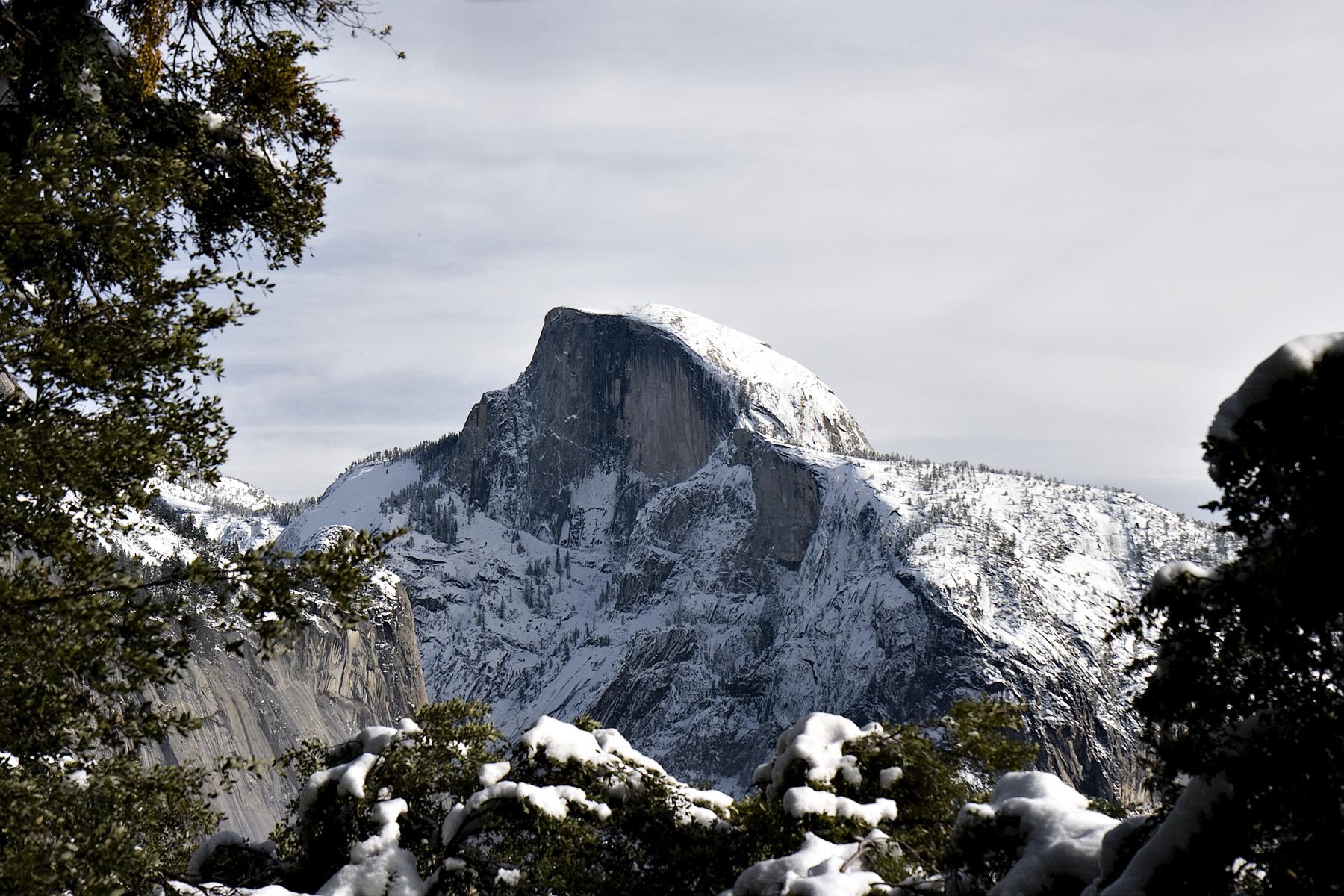 half-dome from yosemite falls trail