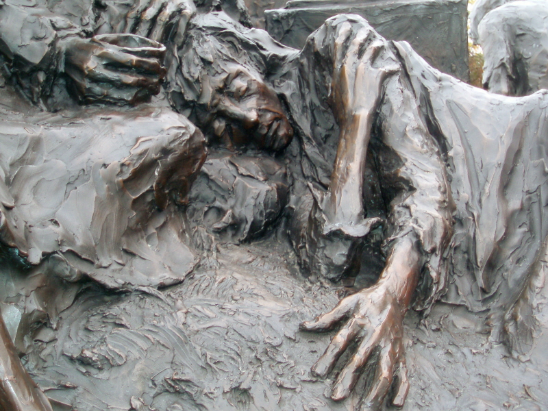 Detail of Famine Memorial in Philadelphia