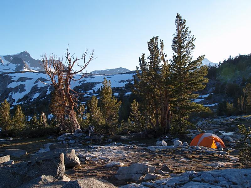 Camp on Island Pass