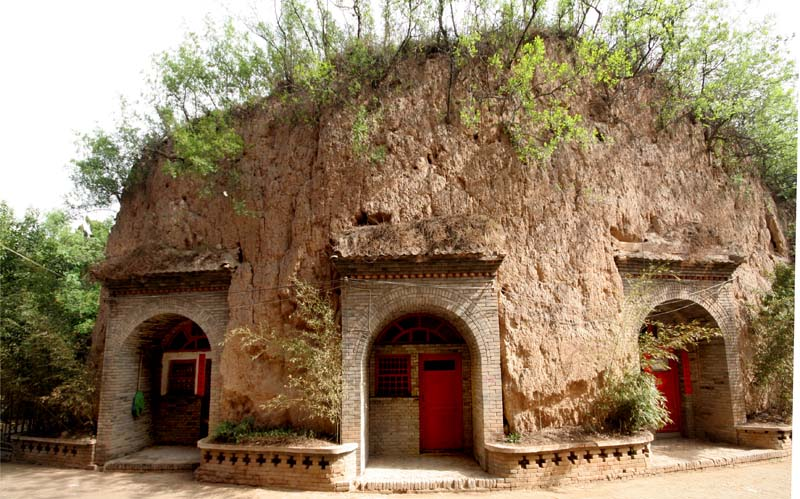These are Yao Dong (cave dwellings)