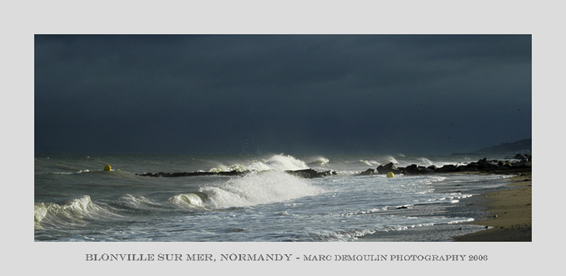 Normandy, the coast at Blonville/mer 2