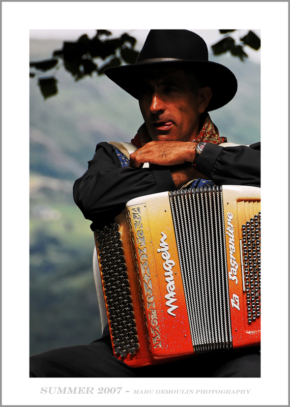 Typical Auvergne musician