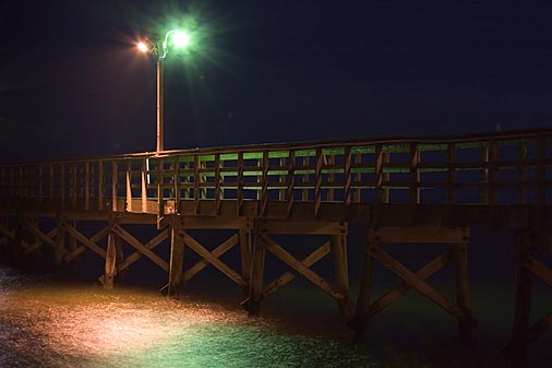 Fishing Pier Lights 20070204 Photo Gordon W Photos At