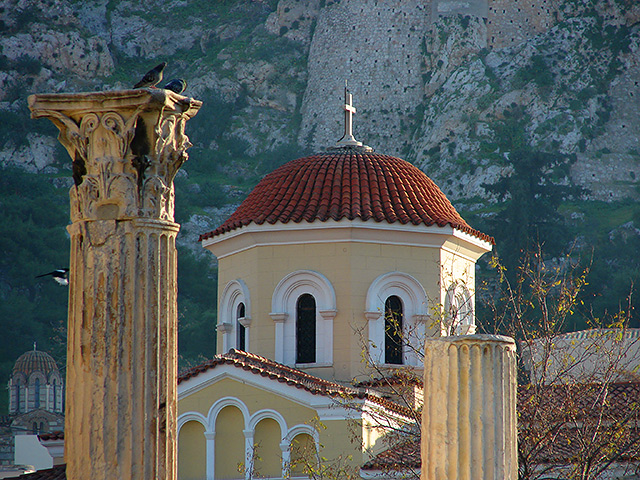 View from Plaka  , the old district of Athens