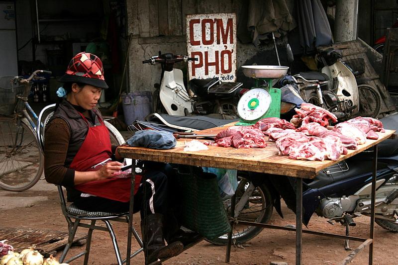 Etal de bouchère - Le Mat - Vietnam