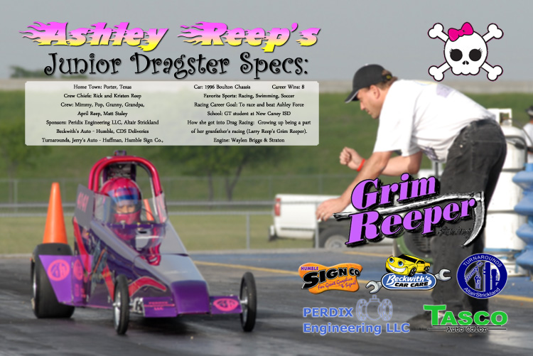 Ashley Reep Junior Dragster 2009