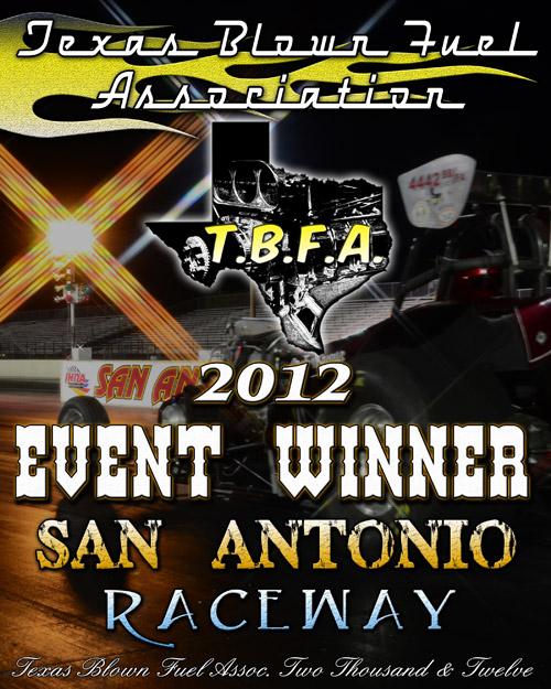 Texas Blown Fuel Winner Plaque 2012