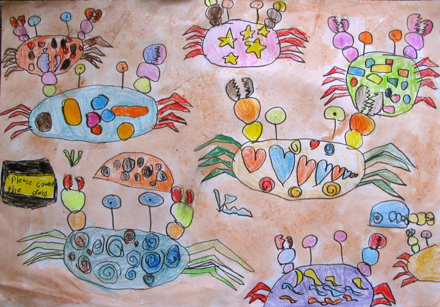 please count the crabs, Kevin, age:6.5