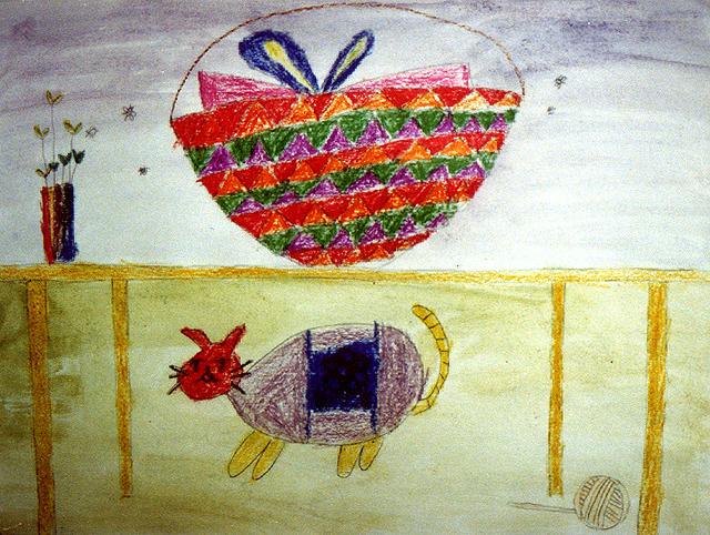 where is the apple? Kar Yan, age:6