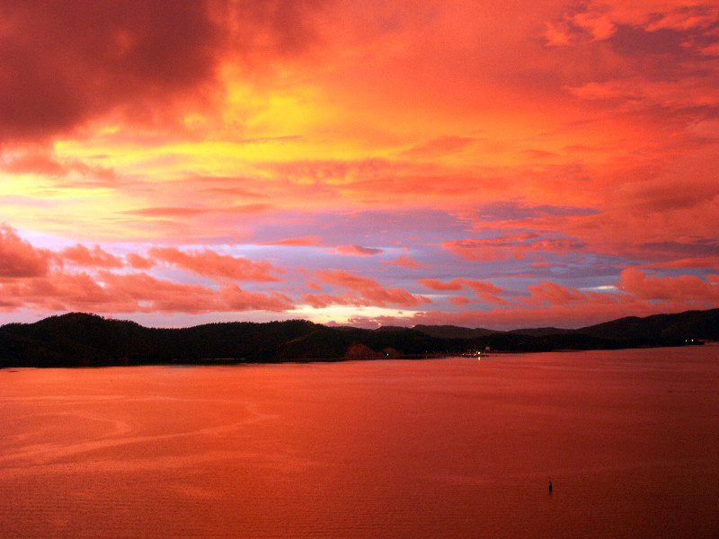 Sunset in Port Moresby, New Guinea 13 March, 2004