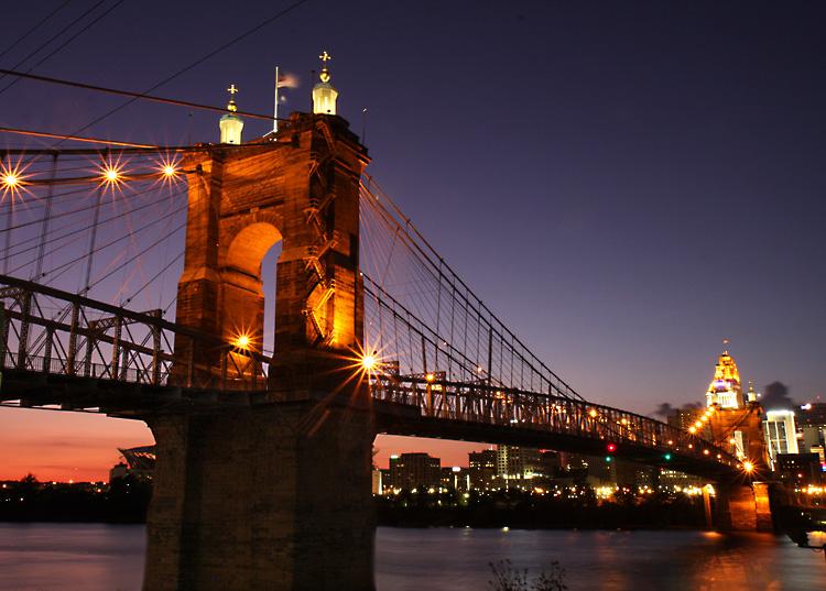 John A Roebling Suspension Bridge<br>Cincinnati Ohio