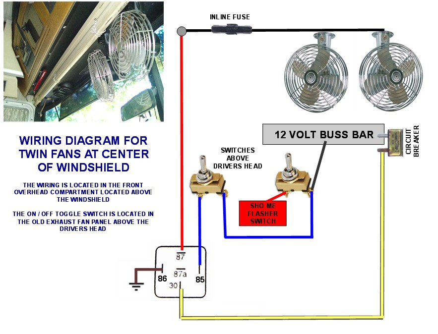 12v windshield fans wiring diagram