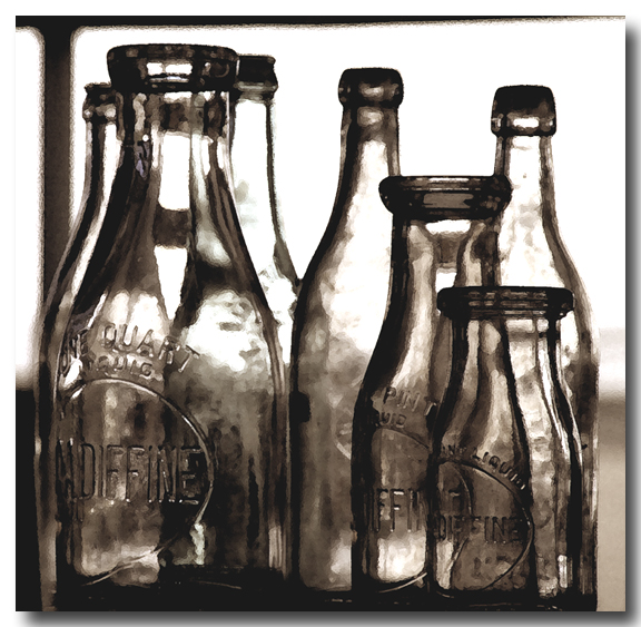old milk bottles...