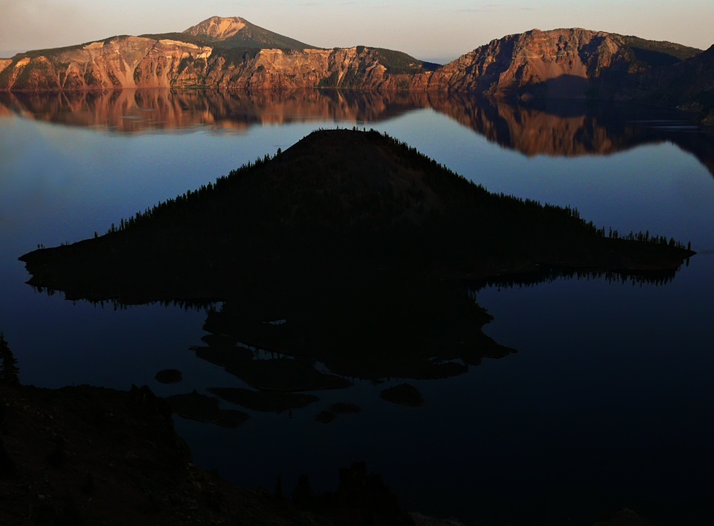 Wizard Island, Crater Lake National Park, Oregon, 2008