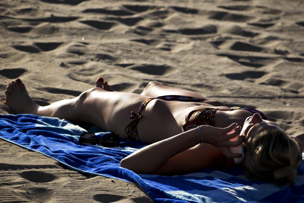 Sunbather, Mission Beach, San Diego, California, 2010