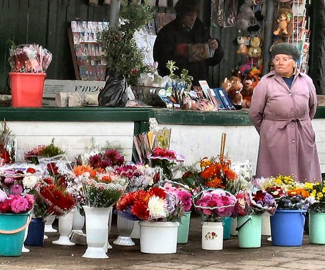 The Lady With The Flowers (Russia).JPG