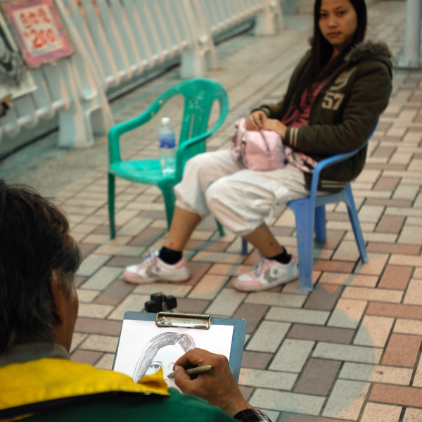 Sketching is a good business in Tamsui