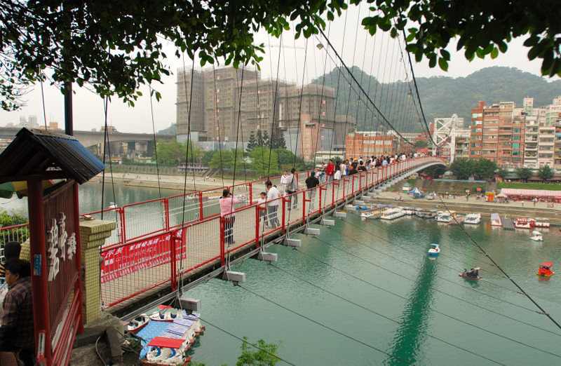 Suspension bridge at Sindian
