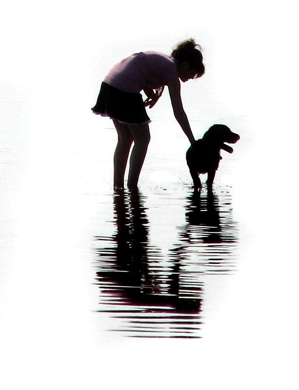 le chien et sa maitresse