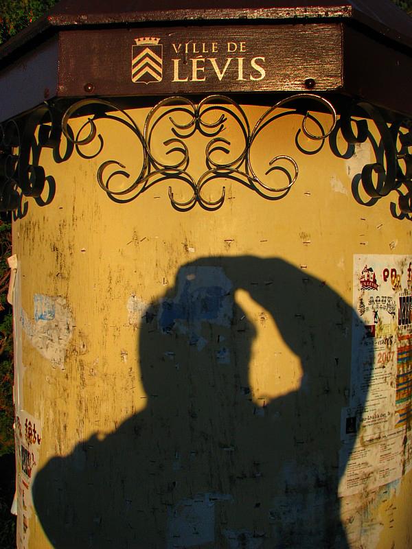 ombre portrait devant la ville de Lévis