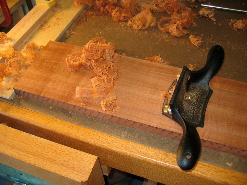 cabinet scraper on Jatoba