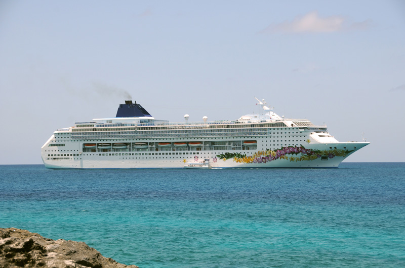 NCL Norwegian Sky by great Stirrup Cay, Bahamas