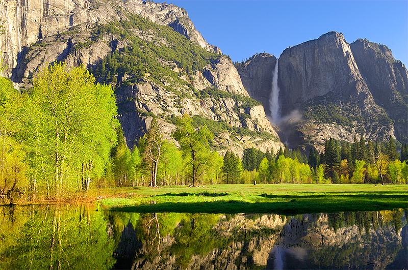 Upper Yosemite Fall from Swinging Bridge area
