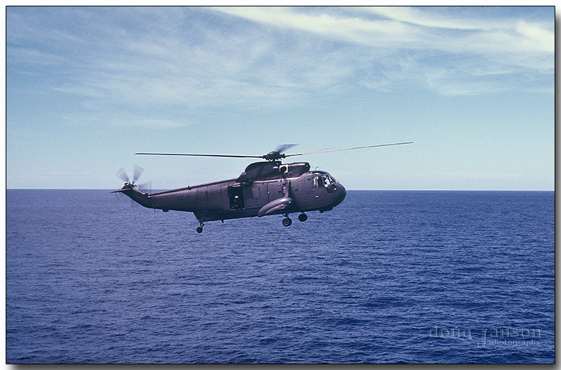 Rescue helo after launch