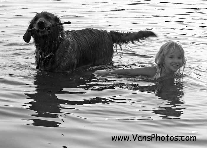Girl and Dog 9308
